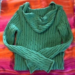 Old Navy V-Neck/Hoodie Green Soft & Warm Sweater